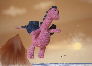 Tarragon the Gentle Dragon -  free amigurumi patterns #knitting
