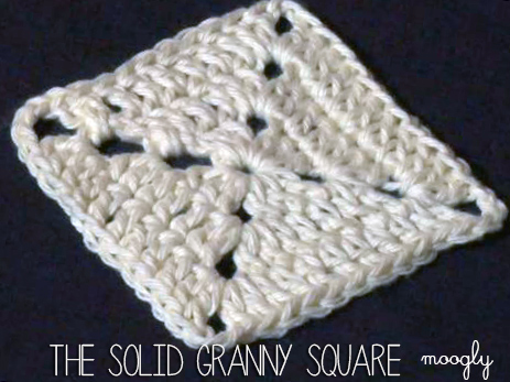The Solid Granny Square -  a basic square every crocheter should know! Video tutorial in HD on mooglyblog.com #crochet