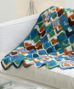 Tunisian Mitered Throw - amazing Tunisian Crochet free pattern!