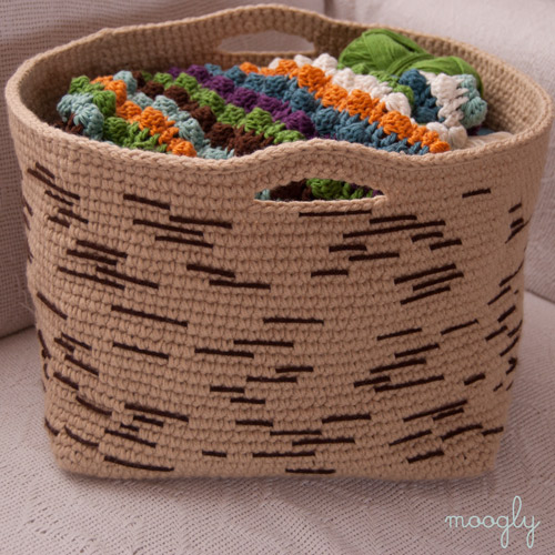 Free Printable Crochet Basket Patterns : G-Ma Ellens Hands ? Adventures in Crochet and Knit ...