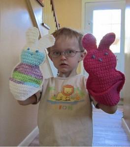 Bunny Bath Time Set - free #crochet bunny pattern