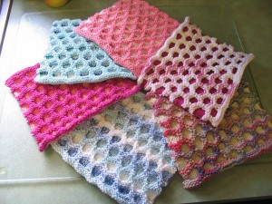 Circle Cloth - free #knit pattern