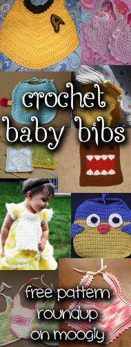 10 Free Crochet Baby Bib Patterns! Match the bib to the parent's style and interests for the ideal new baby gift!#crochet