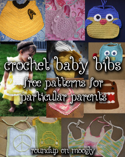 10 Free Crochet Baby Bib Patterns! Match the bib to the parent's style for the perfect gift! #crochet