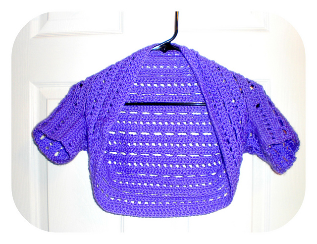 Crochet X-Stitch Shrug Free Pattern : Dots and Dashes Bolero/Shrug - free pattern #crochet
