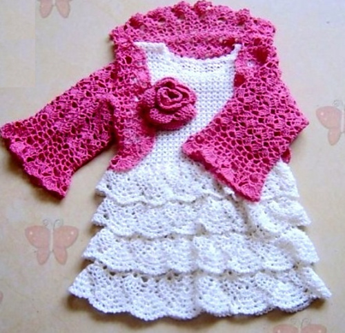 Free Crochet Pattern For Girl Dresses : baby girl crochet dress pattern free