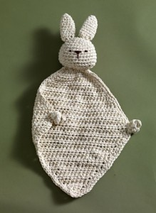 Eco Bunny Blanket - free #crochet bunny lovie pattern!