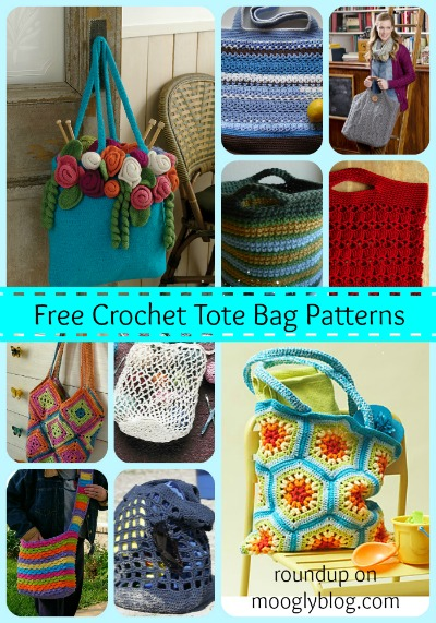 Free Crochet Patterns For Tote Bags And Purses : tote bag Archives - moogly