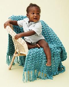 Hairpin Lace Baby Blanket - free #crochet pattern