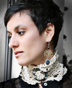 Hairpin Lace Neck Cuff - free #crochet pattern