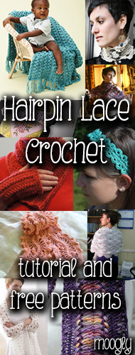 Hairpin Lace - tutorials and free #crochet patterns together at Moogly!