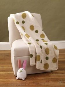 Intarsia Polka-Dot Baby Blanket #knit