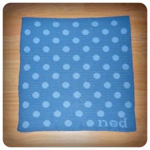 Ned Polka Dot Blanket by Shara Lambeth- free tapestry  #crochet pattern