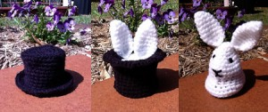 Pull a Rabbit Out of Your Hat - free #crochet bunny pattern! So cool!