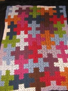 Puzzle Blanket - great #crochet idea found on Unpinning Pinterest