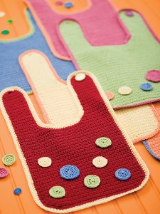 So-Simple Baby Bibs by Bobbi Anderson #crochet