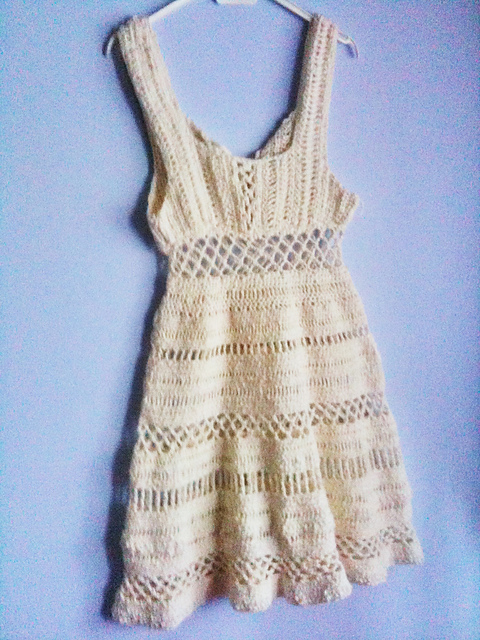 Crochet Stitches For Dresses : Summer Dress - part of the roundup of 10 free crochet dress patterns ...