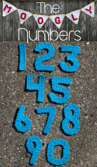 How To Crochet Numbers : ... to make some crochet numbers to match! So without further ado