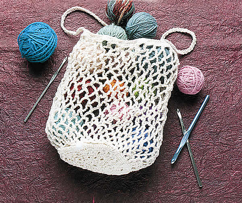 Easy Crochet Mesh Bag Pattern : Carry It All with 10 Free Crochet Tote Bag Patterns! - moogly