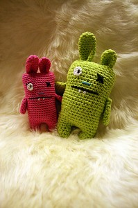Ugly Bunny Pincushion - free #crochet bunny pattern!