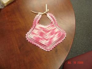 Vintage Baby Bib - free #crochet baby bib pattern!