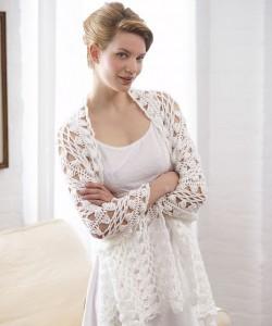 Women's Hairpin Lace Shawl - free #crochet pattern
