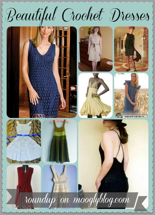 roundup of 10 free crochet dress patterns for women!