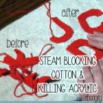 Video tutorial on steam blocking cotton and killing acrylic - so fast and easy! Love this! #crochet #knitting