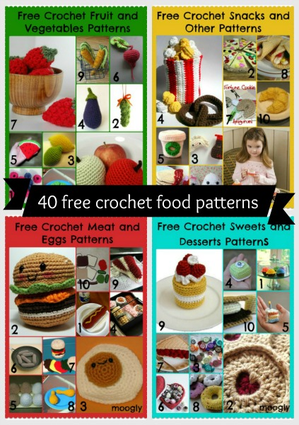 Crochet Patterns Fruits Vegetables Berries Mushrooms - OlinoHobby | 600x423