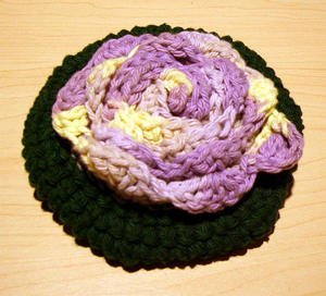 A Rose for Mother Bath Pouf - great free crochet pattern for Mother's Day!