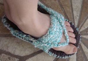 Adult Flip Flop Slippers - flip flips free crochet patterns