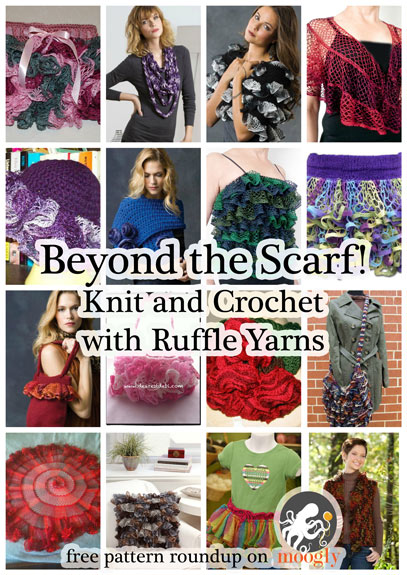Free Ruffle Yarn Crochet Patterns : Ruffle Scarf Knit Or Crochet