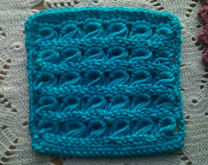 Broomstick Lace Afghan Square - free pattern featuring Broomstick Lace Crochet!