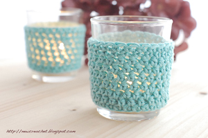 Candle Light Holders! Dress up your tea lights - less than 10 yards of yarn to crochet!