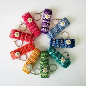 Chapstick/Lip Balm Holder- less than 10 yards of yarn to crochet it!