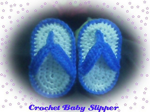Crochet Baby Slipper - flip flips free crochet patterns