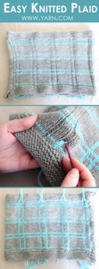 Easy Knitted Plain - knititng and surface crochet are a great combo
