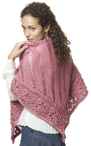 Friendship Shawl - free pattern featuring Broomstick Lace Crochet!