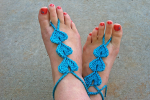 Hearts Barefoot Sandals