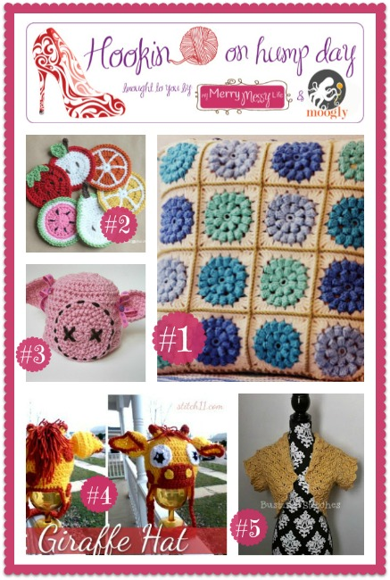 Hookin On Hump Day #40 - Link Party for the Fiber Arts! Come see the best crafty links from around the web, and add your own! Crochet, knitting, sewing, all are welcome!