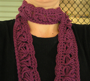 Hundred Yard Dash Scarf - free pattern featuring Broomstick Lace Crochet!