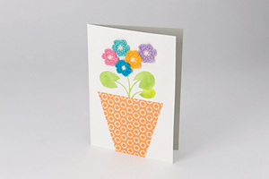 Mother's Day Card - great free crochet pattern for Mother's Day!
