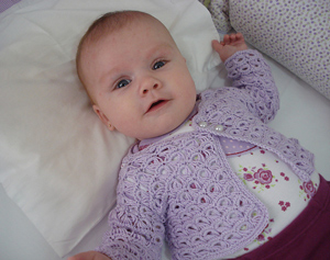 Pearls Baby Coat - free pattern featuring Broomstick Lace Crochet!
