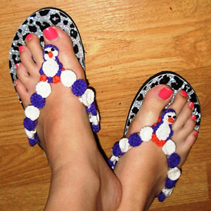 Penguin Flip Flops - flip flips free crochet patterns