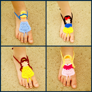 Princess Barefoot Sandals
