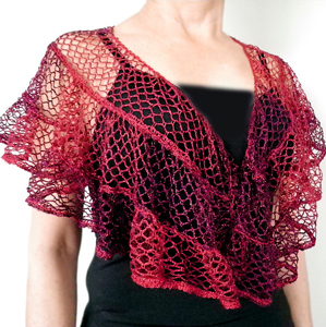 - ruffle yarns can make more than the twirly scarves! Free pattern