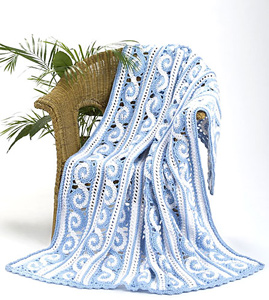 Spirals Throw - Interesting and Unusual Crochet Afghans!