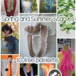 Scarves Go Year Round! Free Crochet Patterns for Spring & Summer Scarves
