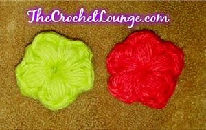 Star Flower Puffs- less than 10 yards of yarn to crochet!