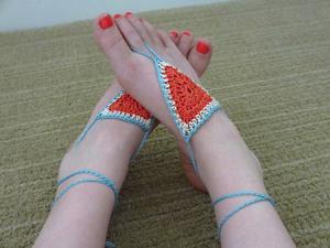 Summertime Barefoot Sandals
